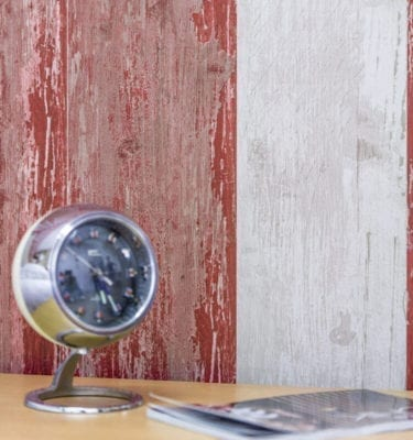 Cabane Red Rustic Wood Effect PVC Wall Cladding