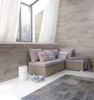 Datcha Grey Wood Effect PVC Wall Cladding