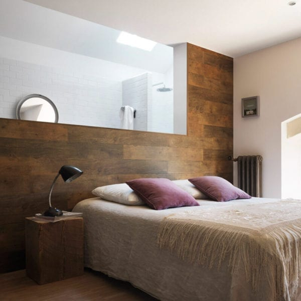 Megeve Brown PVC Wall Cladding Bedroom