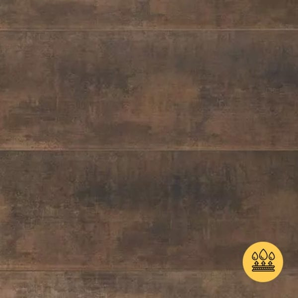 Rust Brown PVC Wall Panel - Classic Industrial
