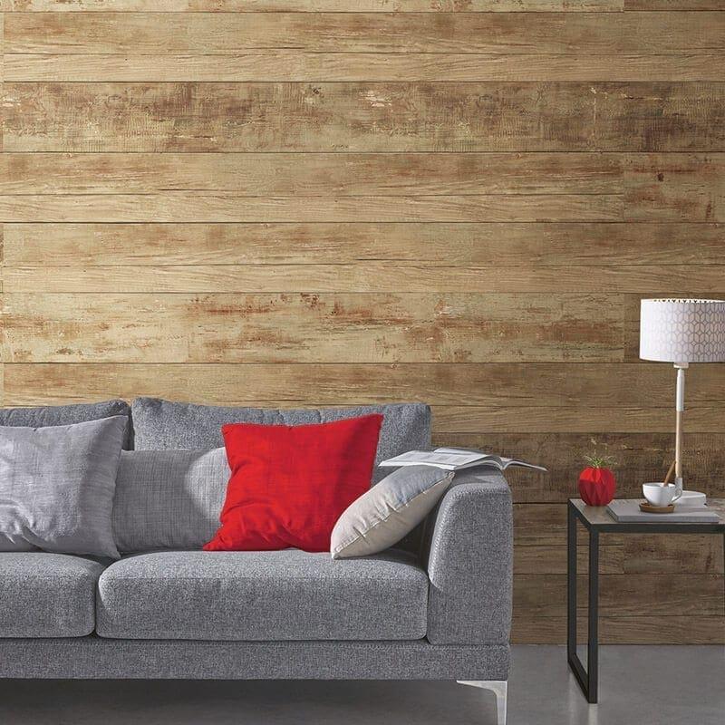 Brown Wall Paneling : Rustic brown pvc wall panel wood effect
