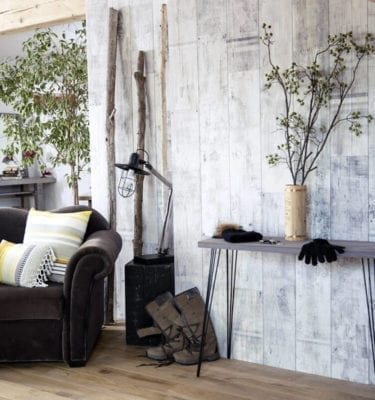 Rustic White Graphic PVC Wall Panel