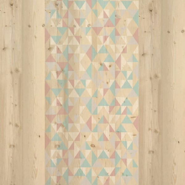 Gypsy Blue Pink - Wood Effect Panels