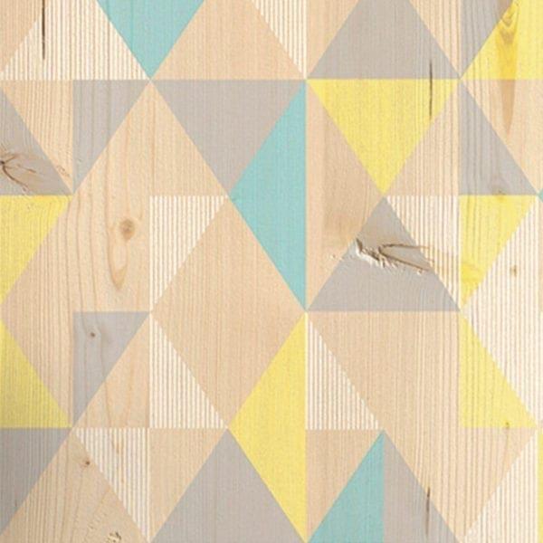 Gypsy Blue Yellow PVC Wall Cladding