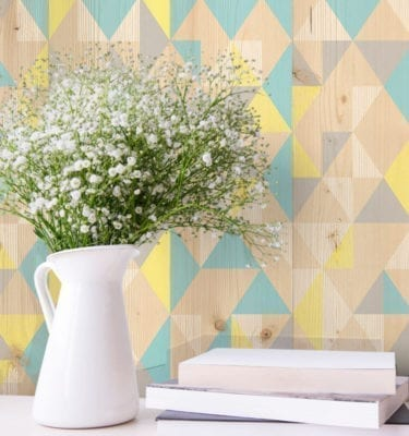 Gypsy Blue Yellow PVC Wall Cladding