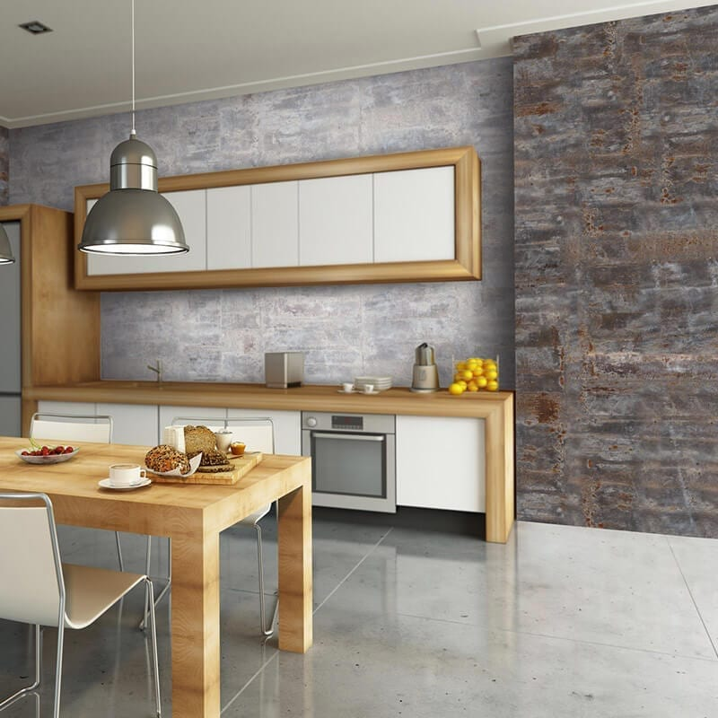 Pvc Kitchen Paneling : Oxydized pvc wall cladding mineral effect targwall