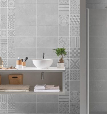 2 Tile Cement Panels - PVC Bathroom Tiles