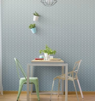 Scandinavian Light Blue PVC Wall Cladding
