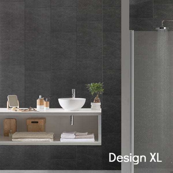 Anthracite Tile Effect PVC Wall Panels 74688C11 XL