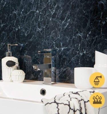 BLACK PEARL GECKO SHOWER PVC WALL PANEL