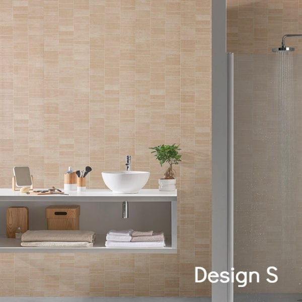 Beige Tile Effect PVC Wall Panels 74686C16-S