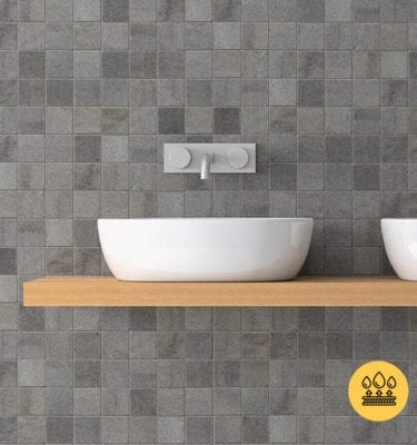 GREY MOSAIC PVC WALL PANELS