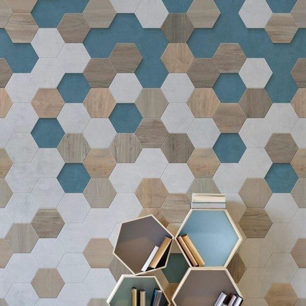 Graphic Terracotta PVC Wall Cladding