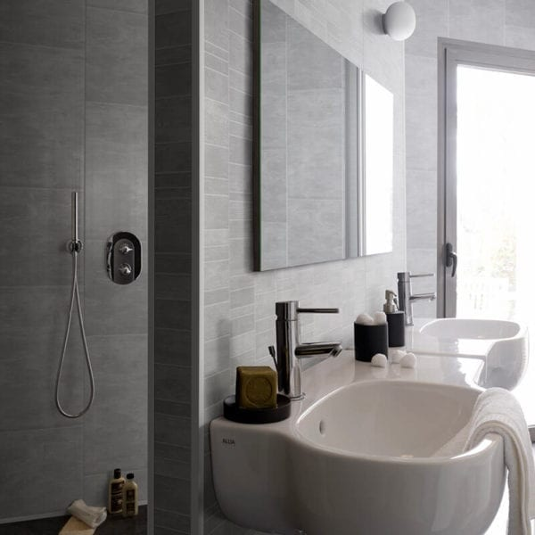 Grey Tile Effect Pvc Wall Panels Bathrooms Amp Kitchen