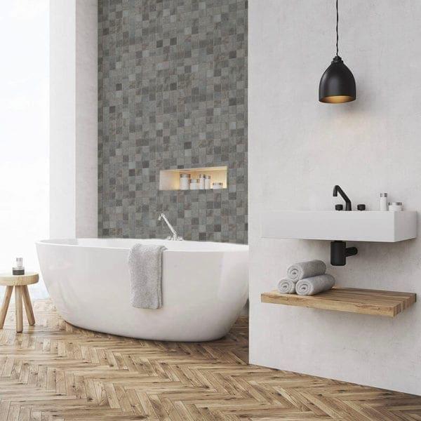 Grey Mosaic - Tile Effect Wall Panels