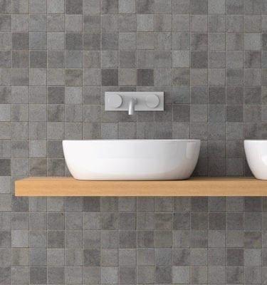 Grey Mosaic - Tile Effect PVC Wall Panels