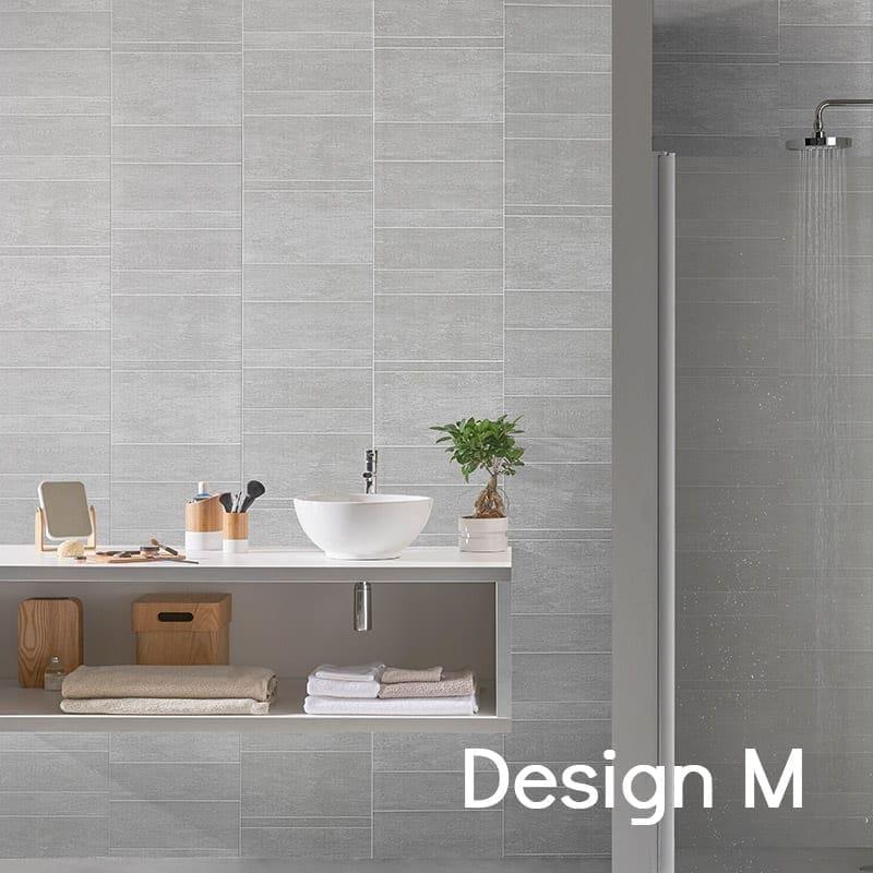 Grey Tile Effect PVC Wall Panels | Bathrooms & Kitchen | Targwall