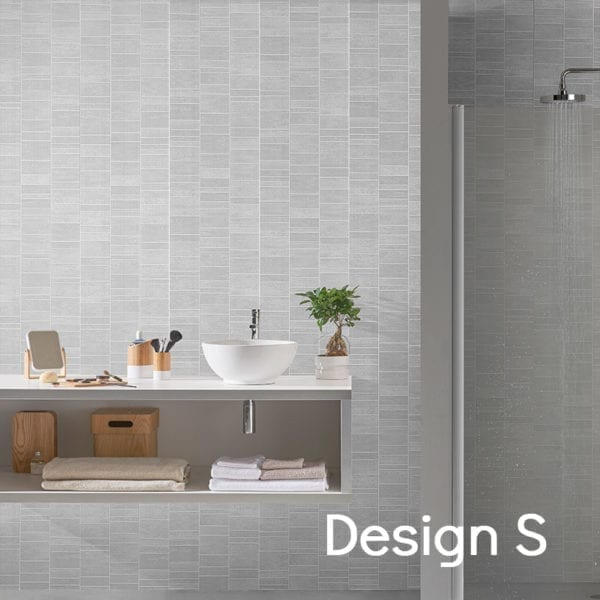 Grey Tile Effect PVC Wall Panels 74688C12 Design S