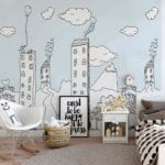 My City Blue - Kids Wall Panels