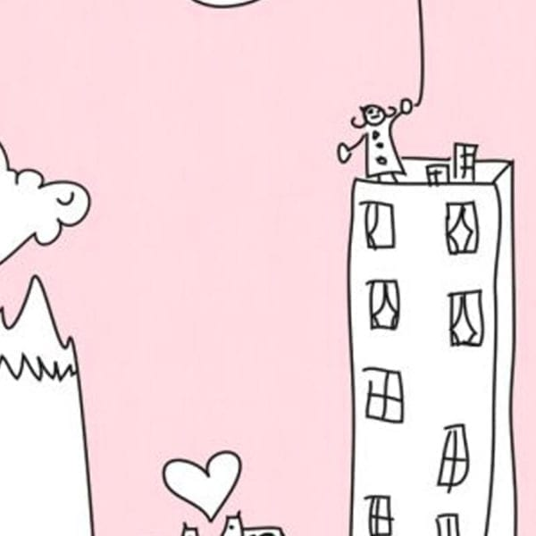 My City Pink - Kids Feature Wall Panels