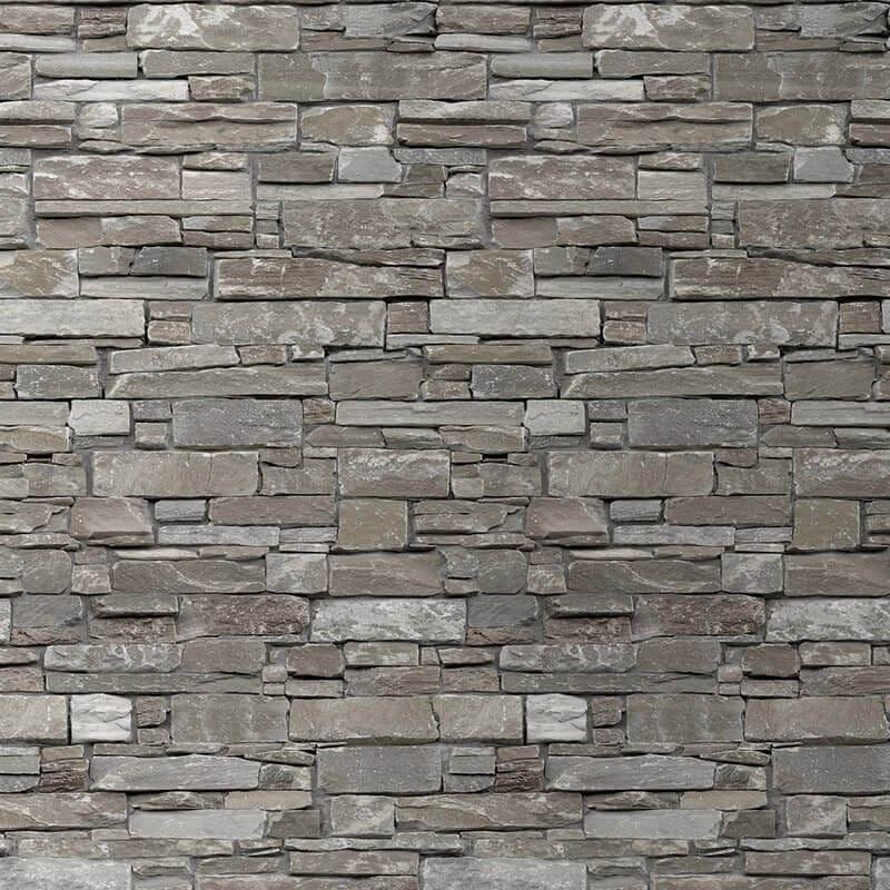 Stone Wall Cladding : Rustic beige pvc wall panel stone brick effect targwall