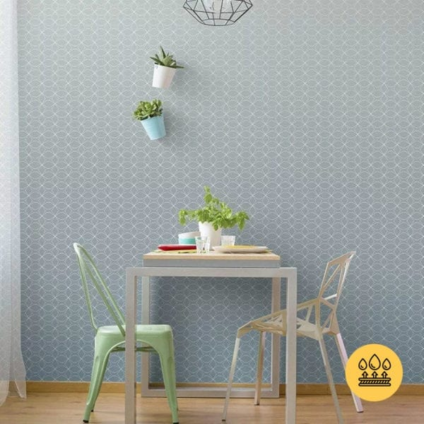 SCANDINAVIAN LIGHT BLUE WALL GRAPHIC