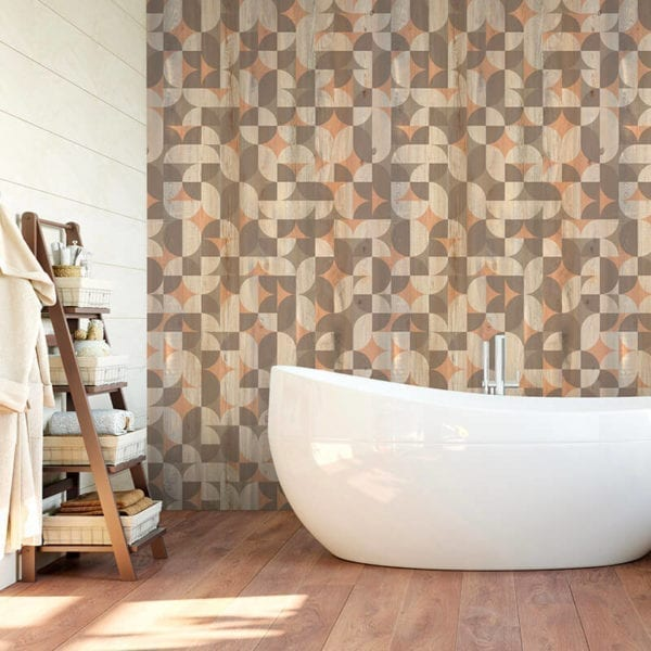 Solstice Bathroom Wood Effect Wall Cladding