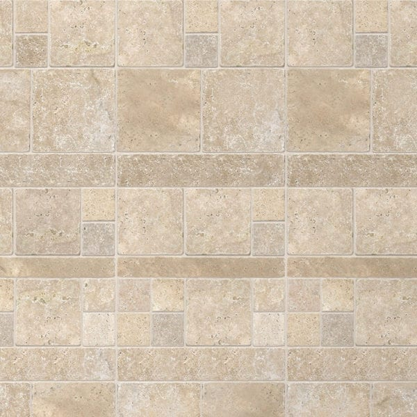 Tavertine Mix - Tile Effect Wall Panels