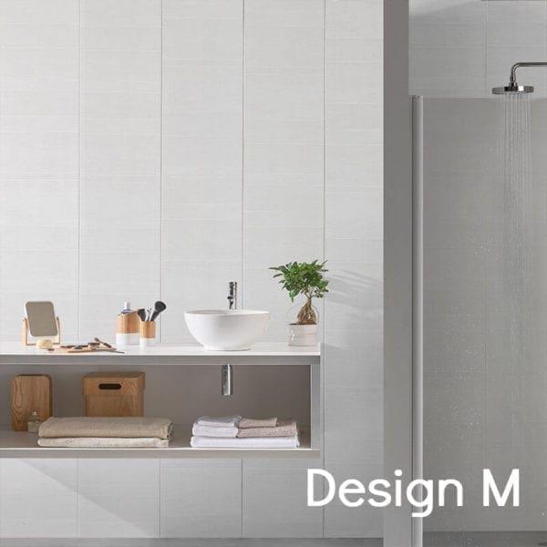 White Tile Effect PVC Wall Panels 74688C15 M