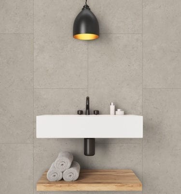 Beige Concrete Bathroom Tile Effect Wall Panel