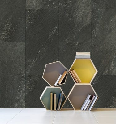Black Stone Tile Effect Wall Panel