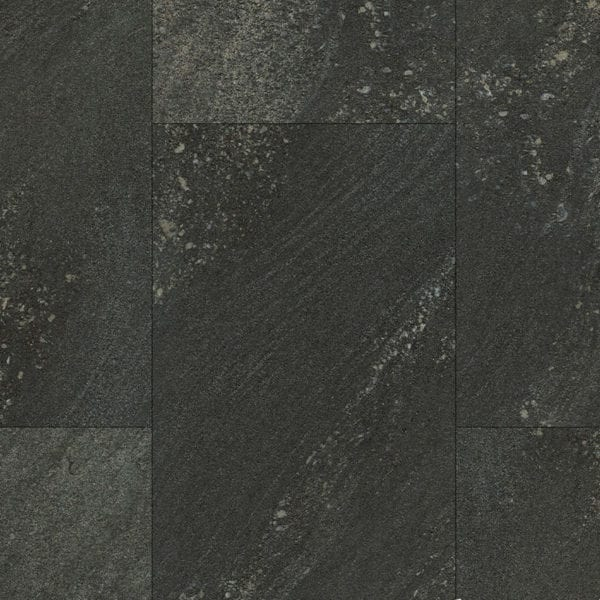 Black Stone Tile Effect Wall Panel Close Up