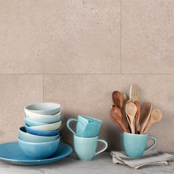 Cream Slate Tile Effect Wall Panels