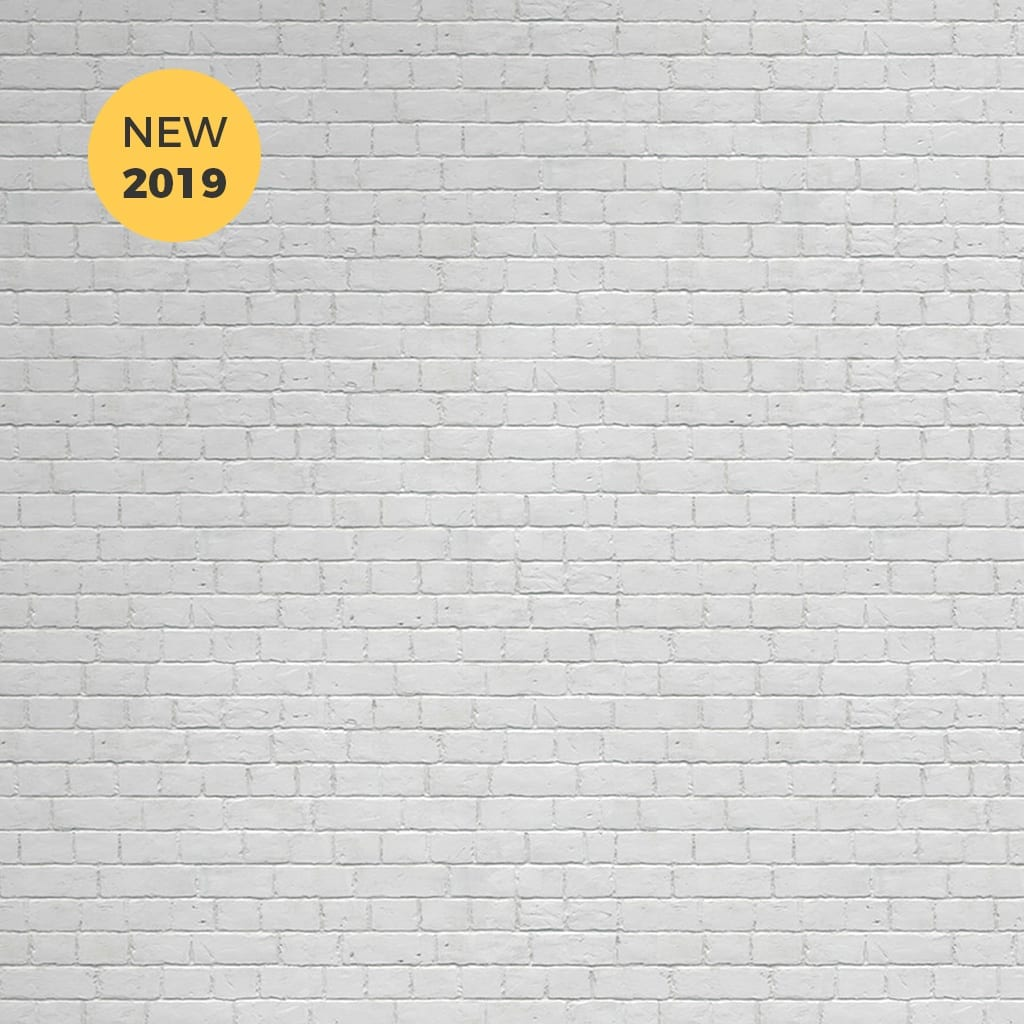 White Brick Effect Wallpaper Collection