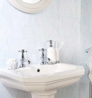 Ice Blue Gecko Bathroom and Shower Wall Panel