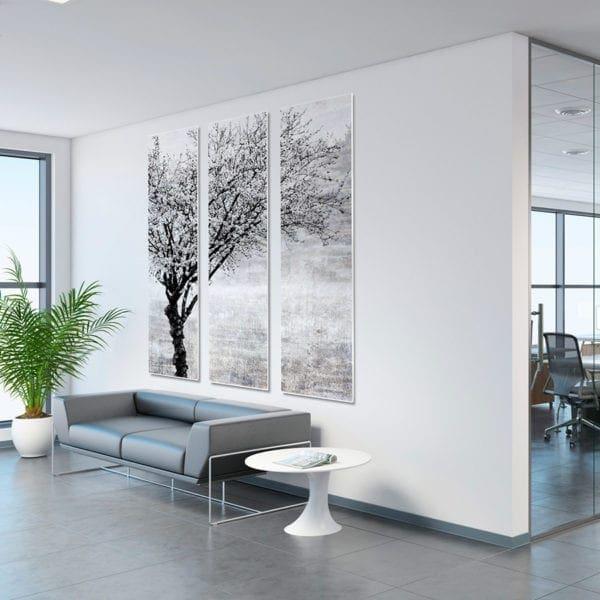 Black & White Tree P4001F63 3 Panel Wall Art 1