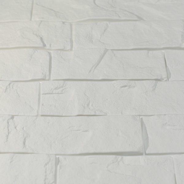 Ledge Stone Interlocking White Close Up