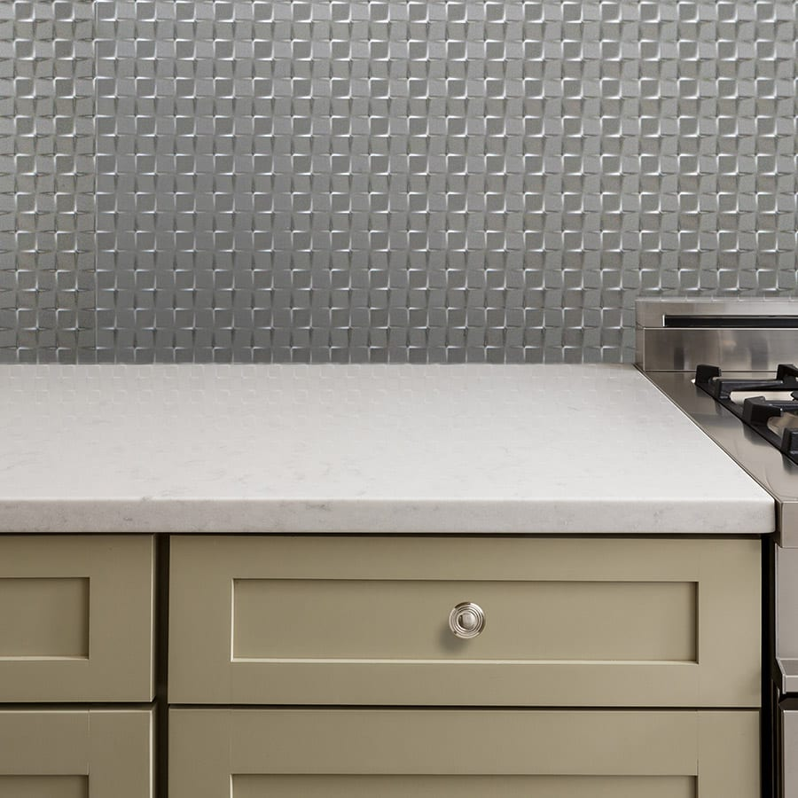 - Quadrate Brushed Nickel PVC Wall Panels Lightweight & Easy Install