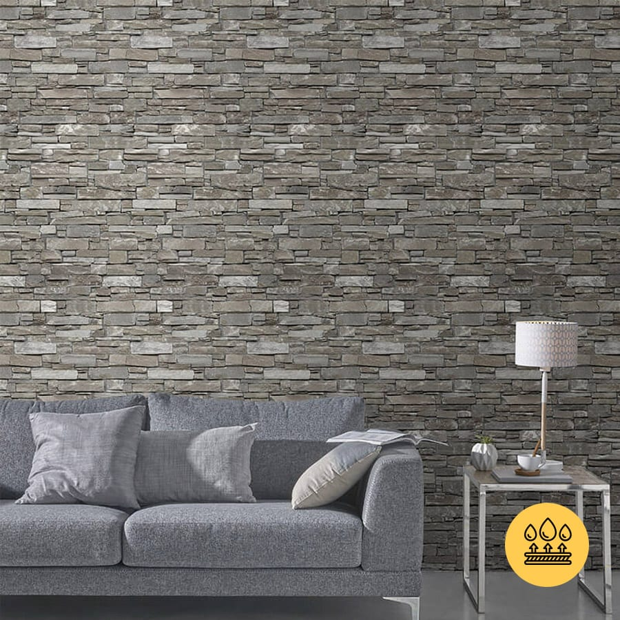 Rustic Beige Pvc Wall Panel Stone Brick Effect Targwall