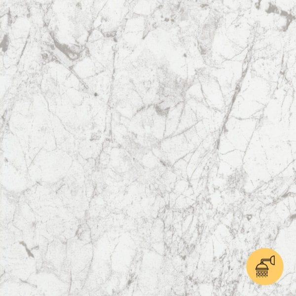 White Marble Shower Wall Panel