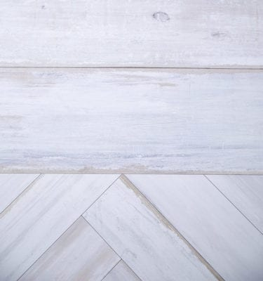 Chevron White Wood Effect Wall Panels-close up
