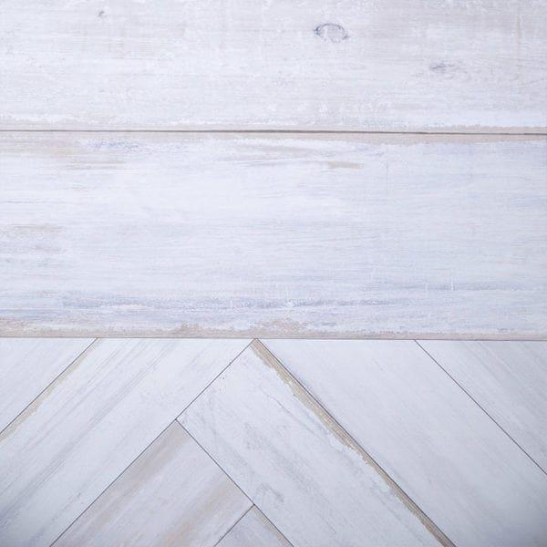Chevron White Wood Effect Wall Panels-close up