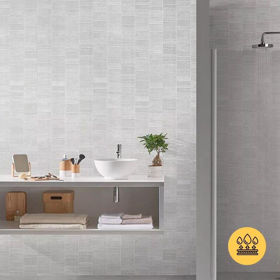 white tile effect pvc wall panels  bathrooms  kitchen
