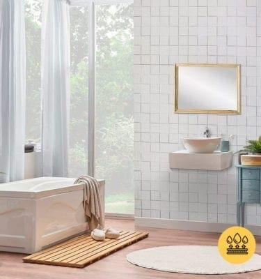 WOOD GRAIN HARMONY CUBES MATTE WHITE – INTERLOCKING PVC WALL PANEL